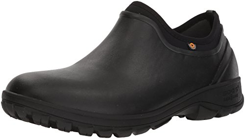 Bogs Men's Sauvie Slip On Soft Toe Rain Boot, Black, 12 D(M) US