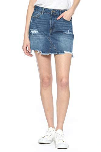 Urban Look Women's Distressed Denim Mini Skirts (Small, A Medium -