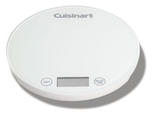 Cuisinart KFS-1W DigiPad Digital Kitchen Scale, White