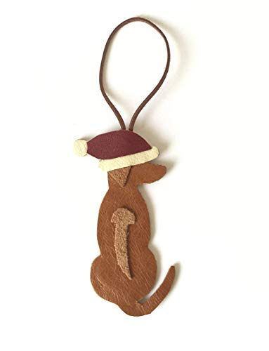 Rhodesian Ridgeback Christmas Ornament Handmade Leather Tag Decoration ()