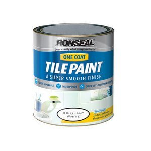 4 X Ronseal TPBW750 750ml One Coat Tile Paint - Brilliant White
