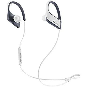 Panasonic Wings RP-BTS30-W Wireless Bluetooth In-Ear Earbuds Noise Isolating Water Resist Sport Headphones with Mic and Controller - White