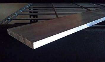 """12/"""" length 1/"""" x 2/'/' Aluminum 6061 Flat Bar"""