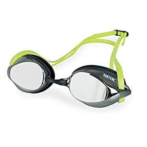 SEAC Ray, Swimming Mirrored Goggles for Women and Men, Sun Protection for The Eyes, Perfect for Open Water