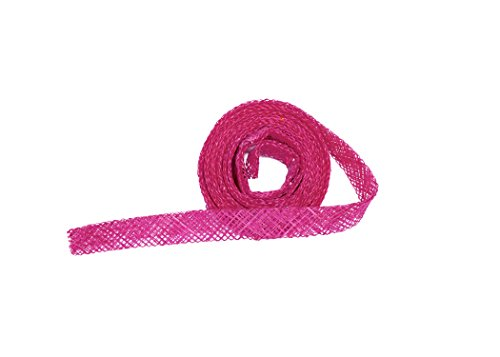 Sinamay Bias Binding Tape for Millinery 1 cm Wide - Hot Pink - 1 Meter