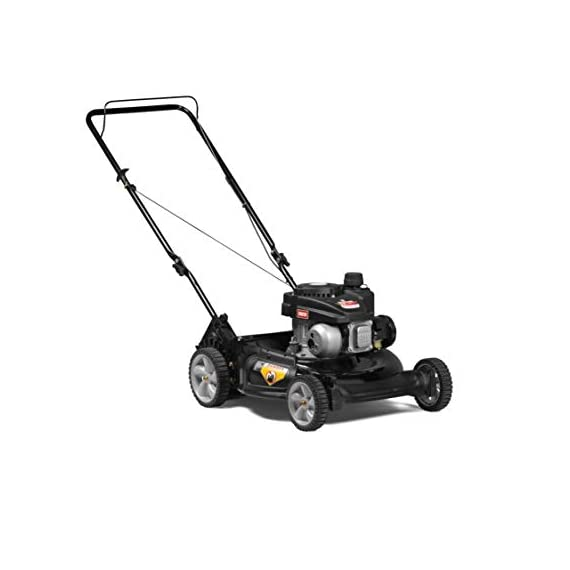 Yard Machines 140cc OHV 21-Inch 2-in-1 Push Walk-Behind  Gas Powered Lawn Mower 2 POWERFUL ENGINE:  140cc engine equipped with recoil start and primer MUTLIPLE HEIGHT SETTINGS: Dual lever height adjuster with 6 different height settings 2-IN-1 CUTTING DECK: Side discharge and mulching capabilities