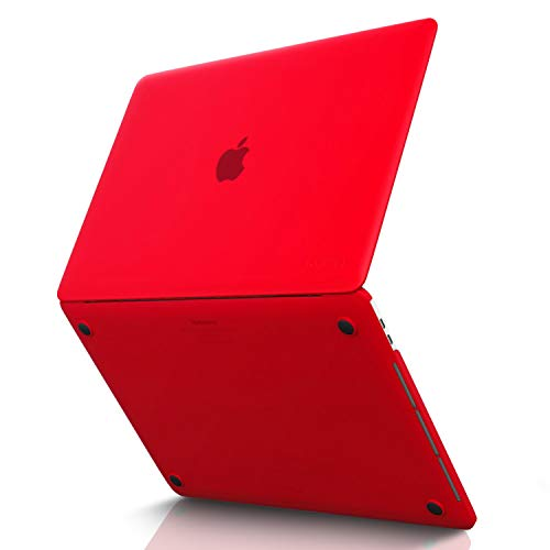 MacBook Pro 15 inch Case 2019 2018 2017 2016 Release A1990 A1707, Kuzy Hard Plastic Shell Cover for Newest MacBook Pro 15 case with Touch Bar Soft Touch - Red -