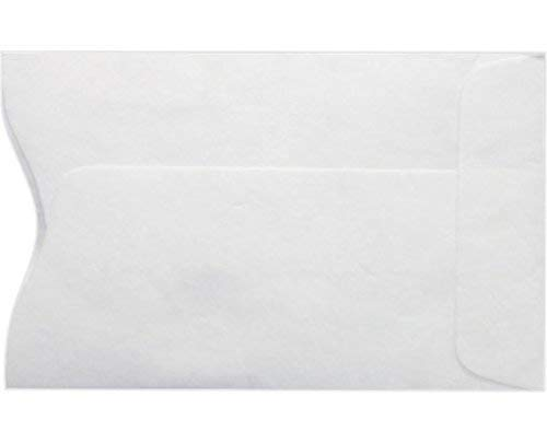 Minas Envelope Key Card Holder/Credit Card Protector/Gift Card Sleeve, Plain White 2-3/8
