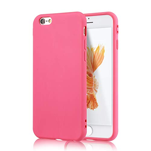 technext020 iPhone 6S Rogue Pink Case, Shockproof Ultra Slim Fit Silicone TPU Soft Gel Rubber Cover Shock Resistance Protective Back Bumper for iPhone 6 Rogue Pink