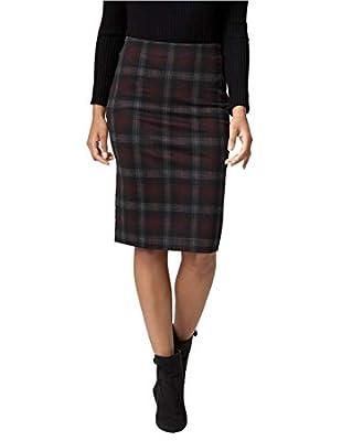 LE CHÂTEAU Check Print Ponte Pencil Skirt