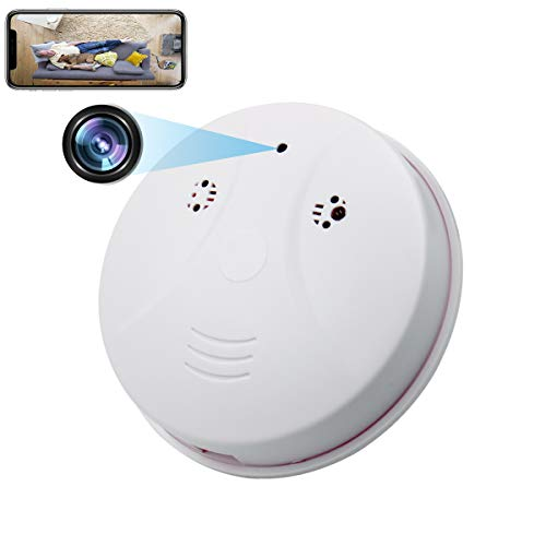 SUSZAVSS Spy Hidden WiFi Smoke Detector Camera HD 1080P Motion Detection Night Vision Loop Recording Security Nanny Cam Wireless Support iOS/Android