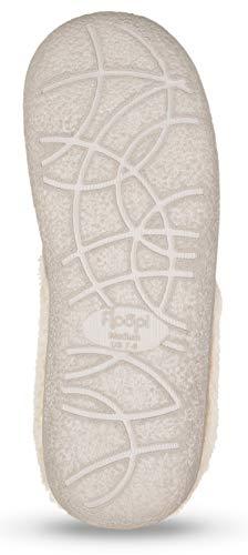 Slipper Womens Grey W 301 Indoor Floopi Lined Clog Fur Memory Outdoor Foam wxpqvY
