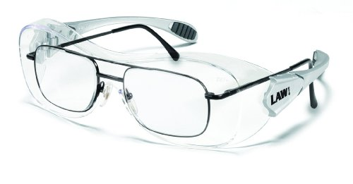 3fff33e36ade5 Crews Law Over The Glass Polycarbonate Clear Anti-Fog Lens Safety Glasses  with Hybrid Black Temple Sleeve - - Amazon.com