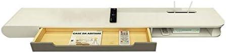 Xyanzi-DVDラック 吊り下げ壁掛け引出しセットトップボックスシェルフテレビキャビネットシンプルシェルフ 機能的な収納棚