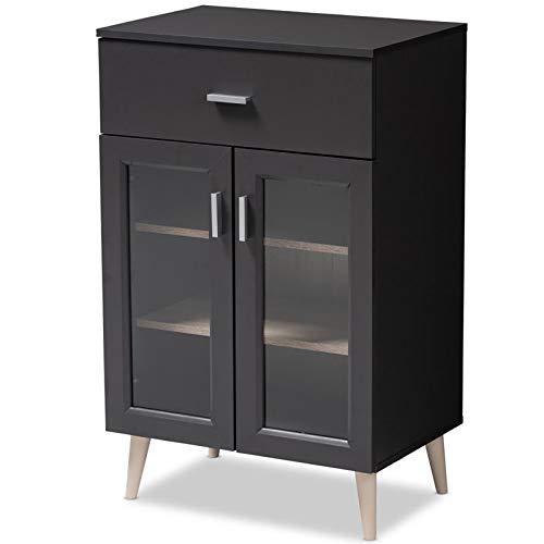 Baxton Studio Jonas Server Cabinet in Dark Grey and Oak Brown by Baxton Studio (Image #9)