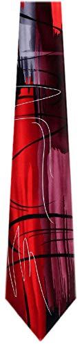 (JG-7507 - Jerry Garcia Silk Red Designer Necktie Ties)