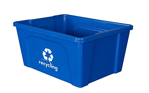Qty = 4 Low Profile Blue Deskside Recycling Bin is Perfect for Recycling Office Paper and -