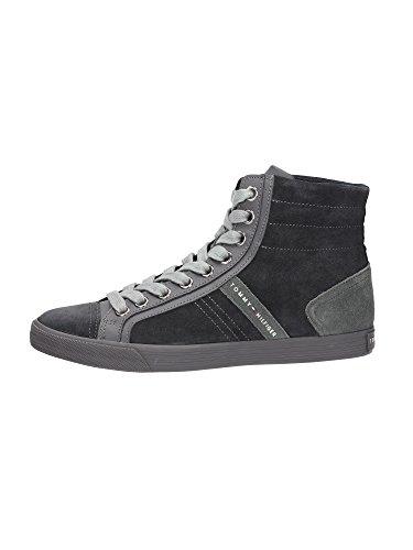 Botines Zapatillas Deportivas Para Hombre Modelo Tommy Hilfiger EM-Will 14 FM56817924 Coronel Gris.