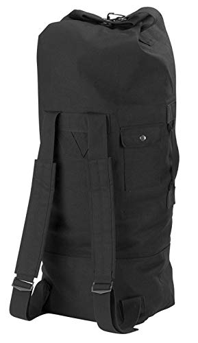 Rothco G.I. Style Canvas Double Strap Duffle Bag, Black