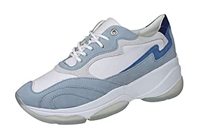 GEOX D Kirya B Womens Nappa Leather Sneakers/Shoes-White-7