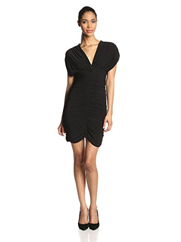 Star Vixen Women's Rouched Cocoon Dress, Black, Medium