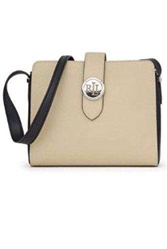Lauren Ralph Lauren Charleston Crossbody Handbag Black (Lauren Ralph Lauren Tate Patent Leather Crossbody)