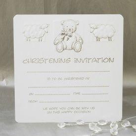 Christening invitations pack of 10 amazon kitchen home christening invitations pack of 10 stopboris Choice Image