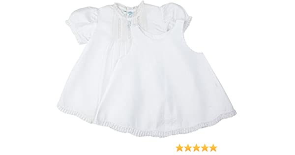 53b0be668 Amazon.com: Feltman Brother's Baby Girl's White Pintucks & Lace Dress  Infant: Clothing