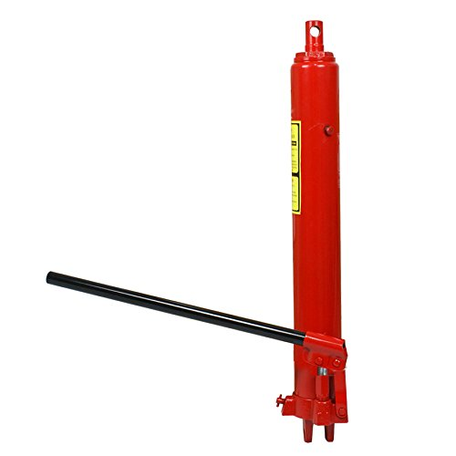 Super Deal Red Long Ram Jack Cherry Picker Manual Hydraul...