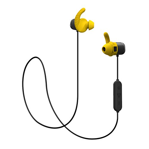 MOPS Sport Bluetooth Headset Sweat Proof Fitness & Running with Heart Rate Monitor Activity Tracker Yellow 8GB Offline Memory by MOPS
