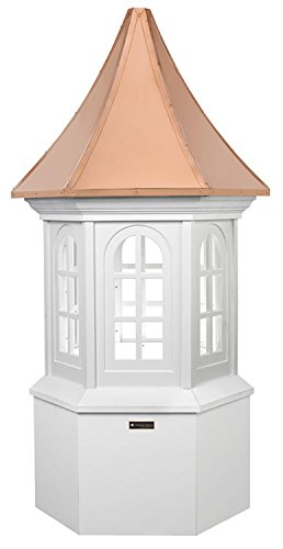 138'' Smithsonian Collection Handcrafted ''Georgetown'' Copper & Vinyl Roof Cupola by CC Home Furnishings