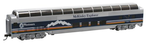 Bachmann Ho 85' Full Dome - Bachmann Trains 85' - BUDD FULL DOME - McKINLEY EXPLORER    Passenger Car with Lighted Interior.  HO Scale