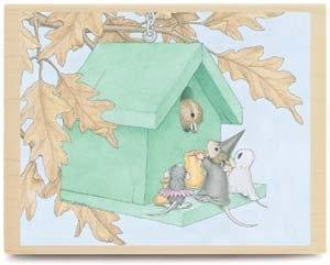 Stampabilities House Mouse Wood Mounted Rubber Stamp: Tweet Treats For All Stampabilities House Mouse