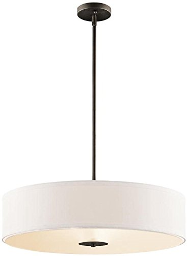 Kichler 42122OZ Pendant/Semi-Flush 3-Light, Olde Bronze from KICHLER