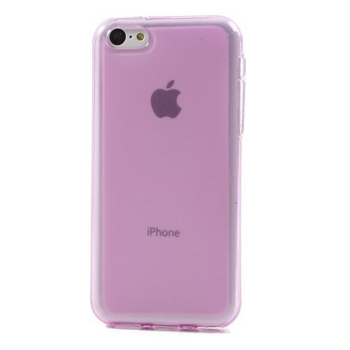 JUJEO Double side Matte Pudding TPU Jelly Case for iPhone 5C - Non-Retail Packaging - Pink