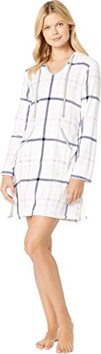 - Nautica Women's Printed Plush Lounge Sleepshirt, Multi/Ivory/Pink Plaid, S