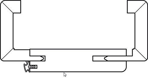 Profiltur Npt Riva Kerbfrasung Weisslack 860 X 1985 Mm Mit Zarge