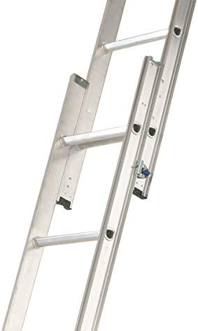 Abru 36000 2 Section Aluminium Loft Ladder, Comfort D-Shaped Rungs, Inc. Stowing Pole, 150kg Load Capacity, Safety Certification EN14975, 5 Year Guarantee