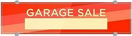 5-Pack Modern Diagonal Premium Brushed Aluminum Sign 24x6 Garage Sale CGSignLab