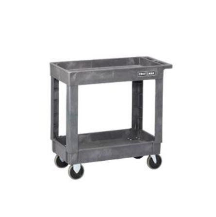 Craftsman Cart - CRAFTSMAN UTILITY CART WITH TWO SHELVES AND 300LB CAPACITY