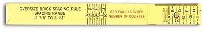 Lufkin 656 6-Foot Wood Oversized Brick Rule
