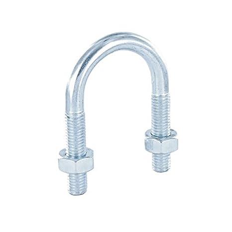 Rundstahlbü gel DIN 3570 Form A Stahl verzinkt mit Muttern - DN 200 - A 228-8' 123Stahl-Shop