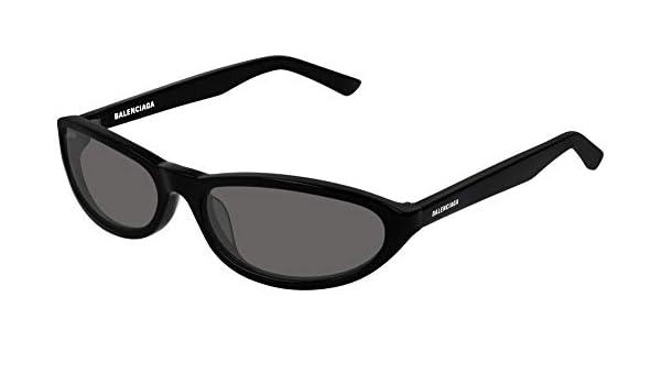 Balenciaga BB0006S Sunglasses 003 Grey//Silver Mirror Lens 54 mm