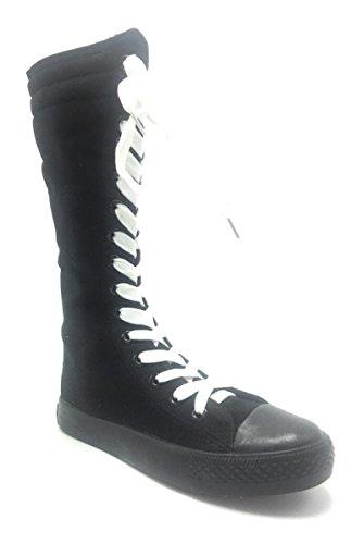 Sneakers 10 nbsp;Tamaño clásico Skate Consider nbsp;Lienzo Up Arranque de Tall Las Black 943 dev DEV Going niñas Nueva Kids Dancing Laces White Zapatos Punk 1 vwypqX