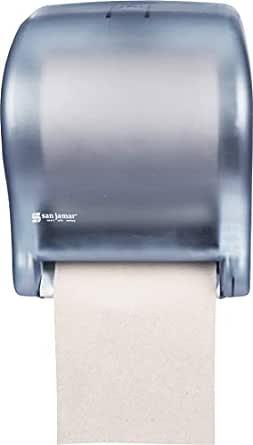 """San Jamar T8000 Tear-N-Dry Essence Towel Dispenser, Fits 8"""" Wide Roll, 11-3/4"""" Width x 14-7/16"""" Height x 9-1/8"""" Depth, Arctic Blue"""