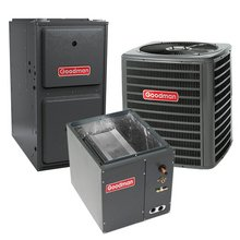 80,000 BTU 96% Gas Furnace and 1.5 ton 13 SEER Air Conditioner GMSS960803BN-GSX130181-CAPF1824B6