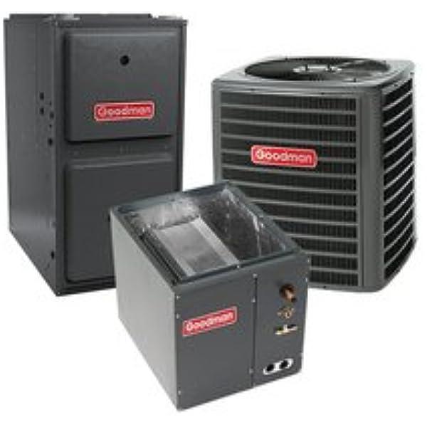 Amazon Com 80 000 Btu 96 Gas Furnace And 2 Ton 13 Seer Air