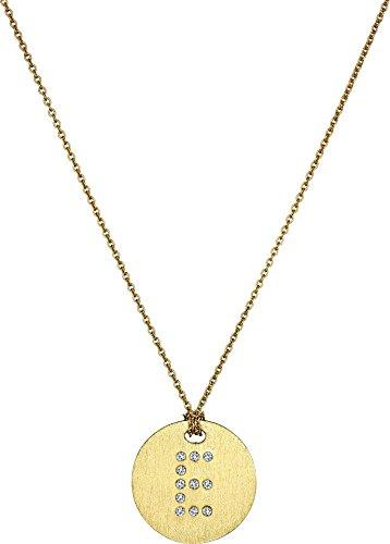 Roberto Coin Women's Tiny Treasures 18K Yellow Gold Initial E Pendant Necklace Yellow Gold One Size (Diamond / Roberto Necklace Coin 18k)