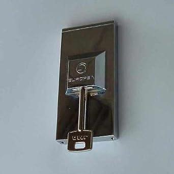 Protector de seguridad para cerraduras de llave tipo borja. Acabado níquel satinado. Anti bumping: Amazon.es: Industria, empresas y ciencia