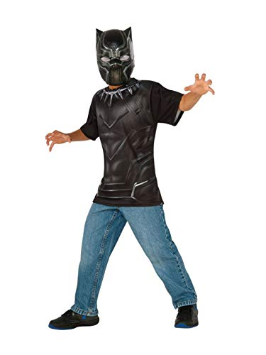 Rubie's Costume Captain America: Civil War Black Panther Child Top and Mask, -